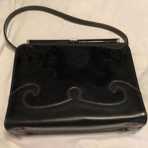Vintage 1940s/50s night out leather handbag